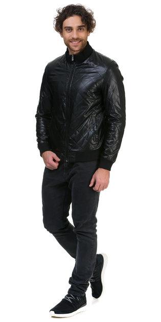 Кожаная куртка эко кожа 100% П/А, цвет черный, арт. 18700466  - цена 5490 руб.  - магазин TOTOGROUP