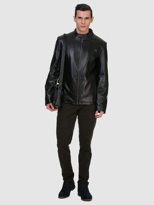 Кожаная куртка кожа баран, цвет черный, арт. 18700467  - цена 9495 руб.  - магазин TOTOGROUP