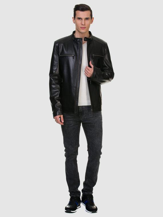 Кожаная куртка кожа баран, цвет черный, арт. 18700469  - цена 13390 руб.  - магазин TOTOGROUP