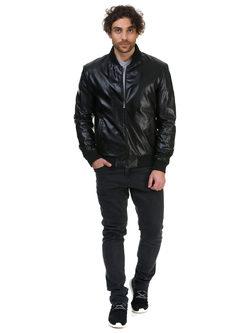 Кожаная куртка эко кожа 100% П/А, цвет черный, арт. 18700470  - цена 5490 руб.  - магазин TOTOGROUP