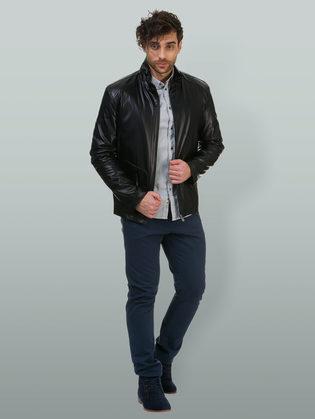 Кожаная куртка эко кожа 100% П/А, цвет черный, арт. 18700471  - цена 5490 руб.  - магазин TOTOGROUP