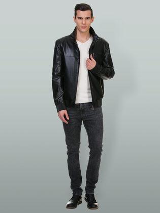 Кожаная куртка эко кожа 100% П/А, цвет черный, арт. 18700472  - цена 5290 руб.  - магазин TOTOGROUP