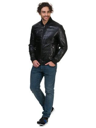 Кожаная куртка эко кожа 100% П/А, цвет черный, арт. 18700473  - цена 5990 руб.  - магазин TOTOGROUP