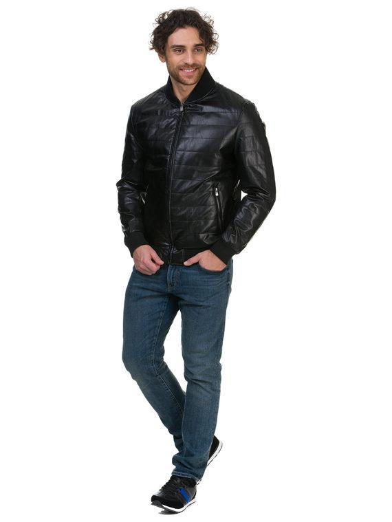 Кожаная куртка эко кожа 100% П/А, цвет черный, арт. 18700473  - цена 5290 руб.  - магазин TOTOGROUP