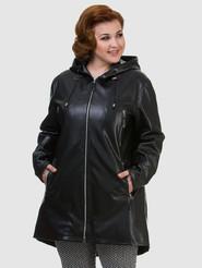 Кожаное пальто артикул 18700475/46 - фото 2