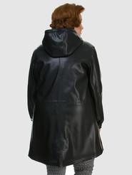 Кожаное пальто артикул 18700475/46 - фото 3