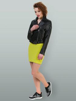 Кожаная куртка эко кожа 100% П/А, цвет черный, арт. 18700482  - цена 4990 руб.  - магазин TOTOGROUP