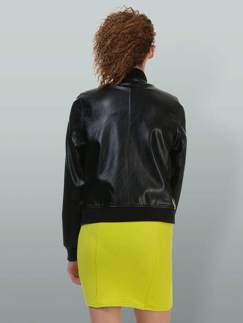 Кожаная куртка артикул 18700483/42 - фото 3