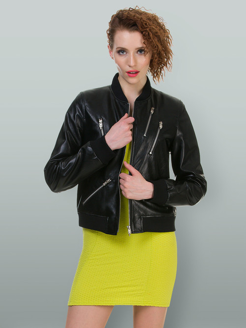 Кожаная куртка артикул 18700483/42 - фото 4