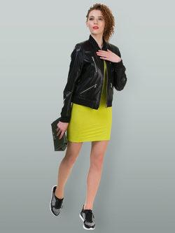 Кожаная куртка эко кожа 100% П/А, цвет черный, арт. 18700483  - цена 5990 руб.  - магазин TOTOGROUP