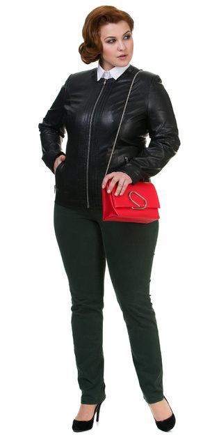 Кожаная куртка эко кожа 100% П/А, цвет черный, арт. 18700485  - цена 5990 руб.  - магазин TOTOGROUP
