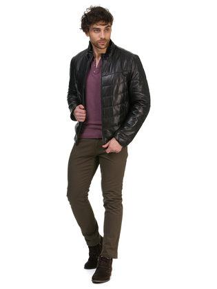 Кожаная куртка кожа овца, цвет черный, арт. 18700489  - цена 18990 руб.  - магазин TOTOGROUP