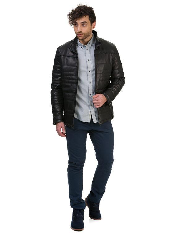 Кожаная куртка кожа , цвет черный, арт. 18700490  - цена 14990 руб.  - магазин TOTOGROUP