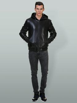 Кожаная куртка эко кожа 100% П/А, цвет черный, арт. 18700492  - цена 7990 руб.  - магазин TOTOGROUP