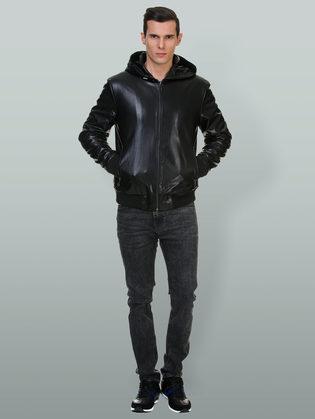 Кожаная куртка эко кожа 100% П/А, цвет черный, арт. 18700492  - цена 5890 руб.  - магазин TOTOGROUP