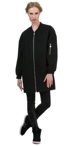 Текстильное пальто 70%шерсть,30%п,а, цвет черный, арт. 18700496  - цена 5990 руб.  - магазин TOTOGROUP
