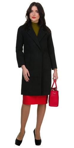 Текстильное пальто 70%шерсть,30%п,а, цвет черный, арт. 18700497  - цена 5990 руб.  - магазин TOTOGROUP
