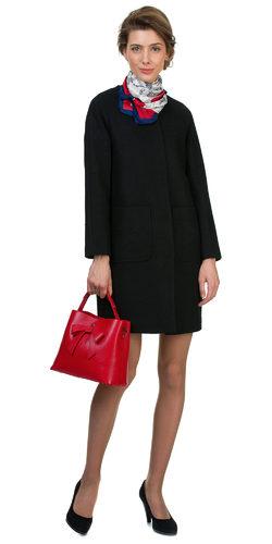 Текстильное пальто 70%шерсть,30%п,а, цвет черный, арт. 18700499  - цена 6990 руб.  - магазин TOTOGROUP