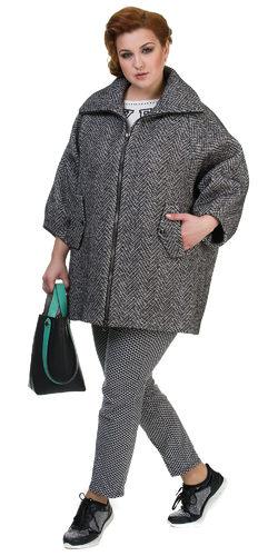 Текстильное пальто 70%шерсть,30%п,а, цвет серый, арт. 18700501  - цена 6990 руб.  - магазин TOTOGROUP