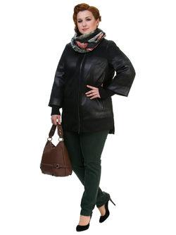 Кожаная куртка эко кожа 100% П/А, цвет черный, арт. 18700524  - цена 9490 руб.  - магазин TOTOGROUP