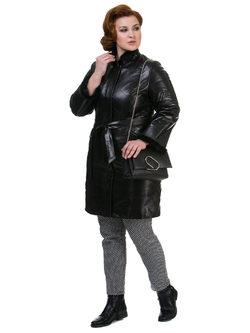 Кожаное пальто кожа овца, цвет черный, арт. 18700525  - цена 17991 руб.  - магазин TOTOGROUP