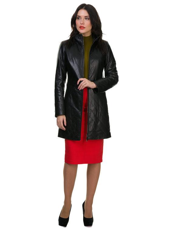 Кожаное пальто кожа , цвет черный, арт. 18700526  - цена 14190 руб.  - магазин TOTOGROUP