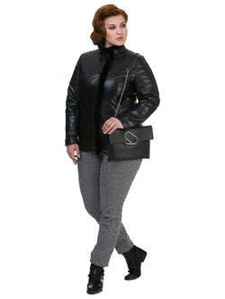 Кожаная куртка эко кожа 100% П/А, цвет черный, арт. 18700528  - цена 9990 руб.  - магазин TOTOGROUP