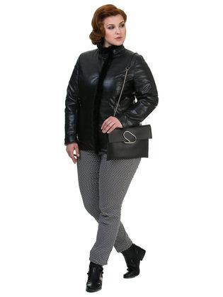 Кожаная куртка эко кожа 100% П/А, цвет черный, арт. 18700528  - цена 6290 руб.  - магазин TOTOGROUP