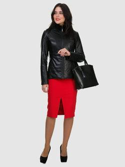 Кожаная куртка эко кожа 100% П/А, цвет черный, арт. 18700529  - цена 9990 руб.  - магазин TOTOGROUP