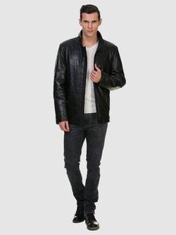 Кожаная куртка кожа овца, цвет черный, арт. 18700531  - цена 13390 руб.  - магазин TOTOGROUP