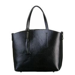 Сумка кожа теленок, цвет черный, арт. 18700536  - цена 5990 руб.  - магазин TOTOGROUP