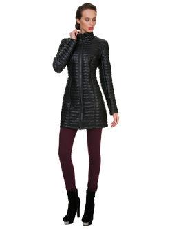Кожаное пальто эко кожа 100% П/А, цвет черный, арт. 18700554  - цена 4990 руб.  - магазин TOTOGROUP