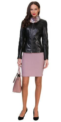 Кожаная куртка кожа овца, цвет черный, арт. 18700598  - цена 10990 руб.  - магазин TOTOGROUP
