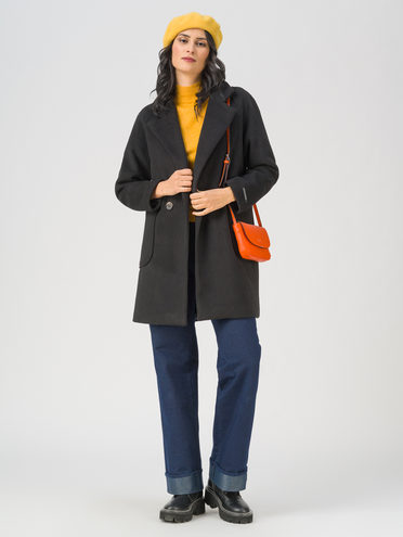Текстильная куртка 35% шерсть, 65% полиэстер, цвет черный, арт. 18711401  - цена 5890 руб.  - магазин TOTOGROUP