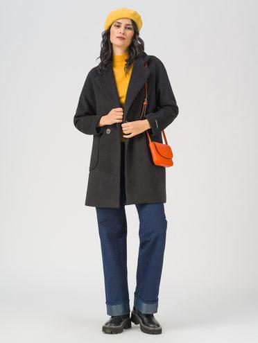 Текстильная куртка 35% шерсть, 65% полиэстер, цвет черный, арт. 18711401  - цена 4740 руб.  - магазин TOTOGROUP