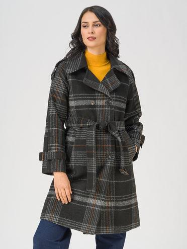 Текстильное пальто 35% шерсть, 65% полиэстер, цвет черный, арт. 18711402  - цена 5890 руб.  - магазин TOTOGROUP