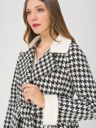 Текстильное пальто 35% шерсть, 65% полиэстер, цвет черный, арт. 18711403  - цена 6630 руб.  - магазин TOTOGROUP
