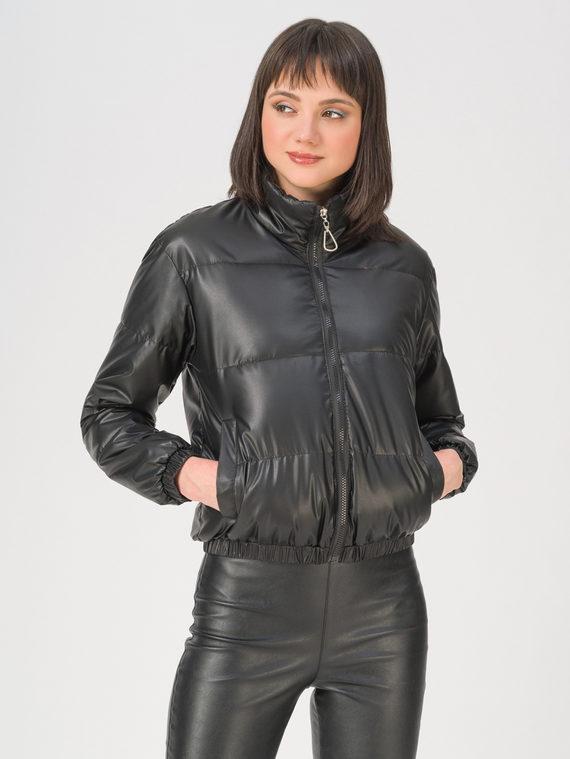 Кожаная куртка эко-кожа 100% П/А, цвет черный, арт. 18711486  - цена 2990 руб.  - магазин TOTOGROUP