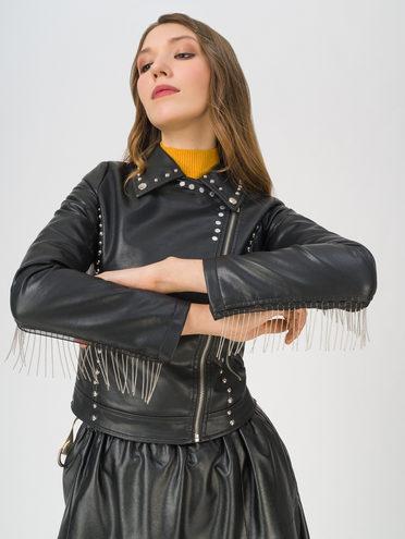 Кожаная куртка эко-кожа 100% П/А, цвет черный, арт. 18711533  - цена 3990 руб.  - магазин TOTOGROUP