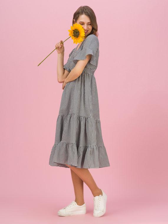 Женское платье 80% хлопок, 20% п\э, цвет черный, арт. 18711689  - цена 990 руб.  - магазин TOTOGROUP