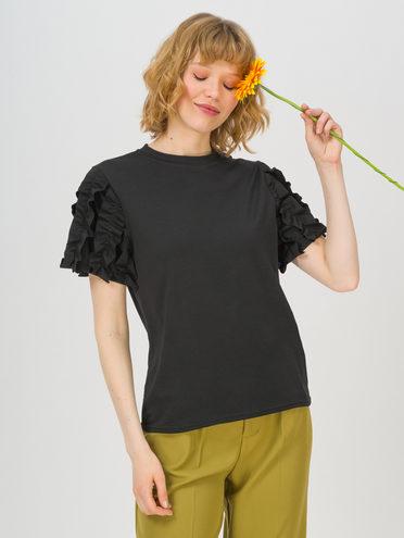 Блуза 80% хлопок, 20% п\э, цвет черный, арт. 18711706  - цена 1410 руб.  - магазин TOTOGROUP
