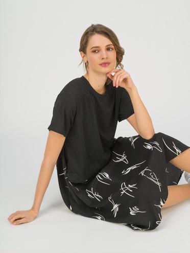 Женское платье 70% хлопок, 30% полиэстер, цвет черный, арт. 18711707  - цена 1660 руб.  - магазин TOTOGROUP