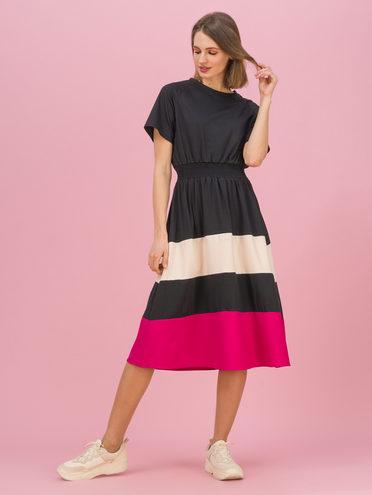 Женское платье 70% хлопок, 30% полиэстер, цвет черный, арт. 18711708  - цена 1950 руб.  - магазин TOTOGROUP