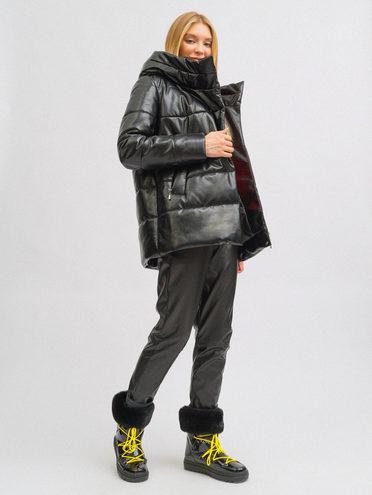 Кожаная куртка эко-кожа 100% П/А, цвет черный, арт. 18711742  - цена 4990 руб.  - магазин TOTOGROUP