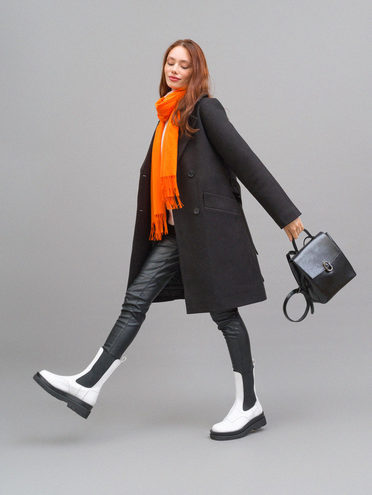 Текстильное пальто 95% лавсан, 5% вискоза, цвет черный, арт. 18711751  - цена 8490 руб.  - магазин TOTOGROUP