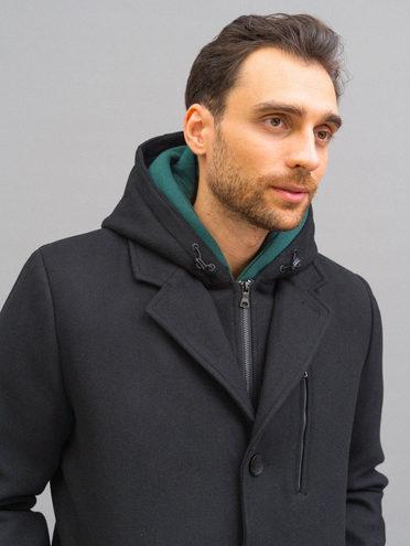 Текстильное пальто 51% п/э,49% шерсть, цвет черный, арт. 18718965  - цена 11290 руб.  - магазин TOTOGROUP