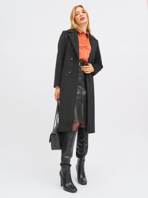 Текстильное пальто артикул 18719953/42 - фото 4