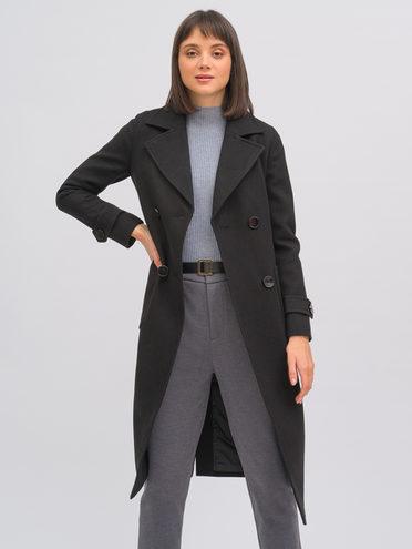 Текстильное пальто 40% шерсть, 30% вискоза, 30% полиамид, цвет черный, арт. 18719965  - цена 8990 руб.  - магазин TOTOGROUP