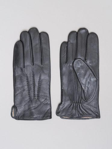 Перчатки кожа коза, цвет черный, арт. 18720108  - цена 1750 руб.  - магазин TOTOGROUP