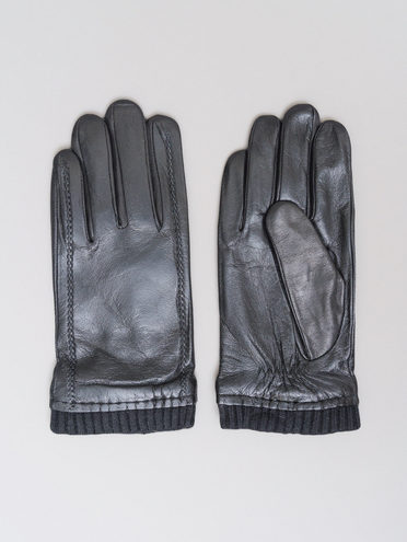 Перчатки кожа коза, цвет черный, арт. 18720113  - цена 1990 руб.  - магазин TOTOGROUP